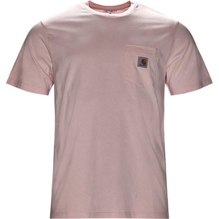 S/S Pocket - T-shirts - Regular - Pink